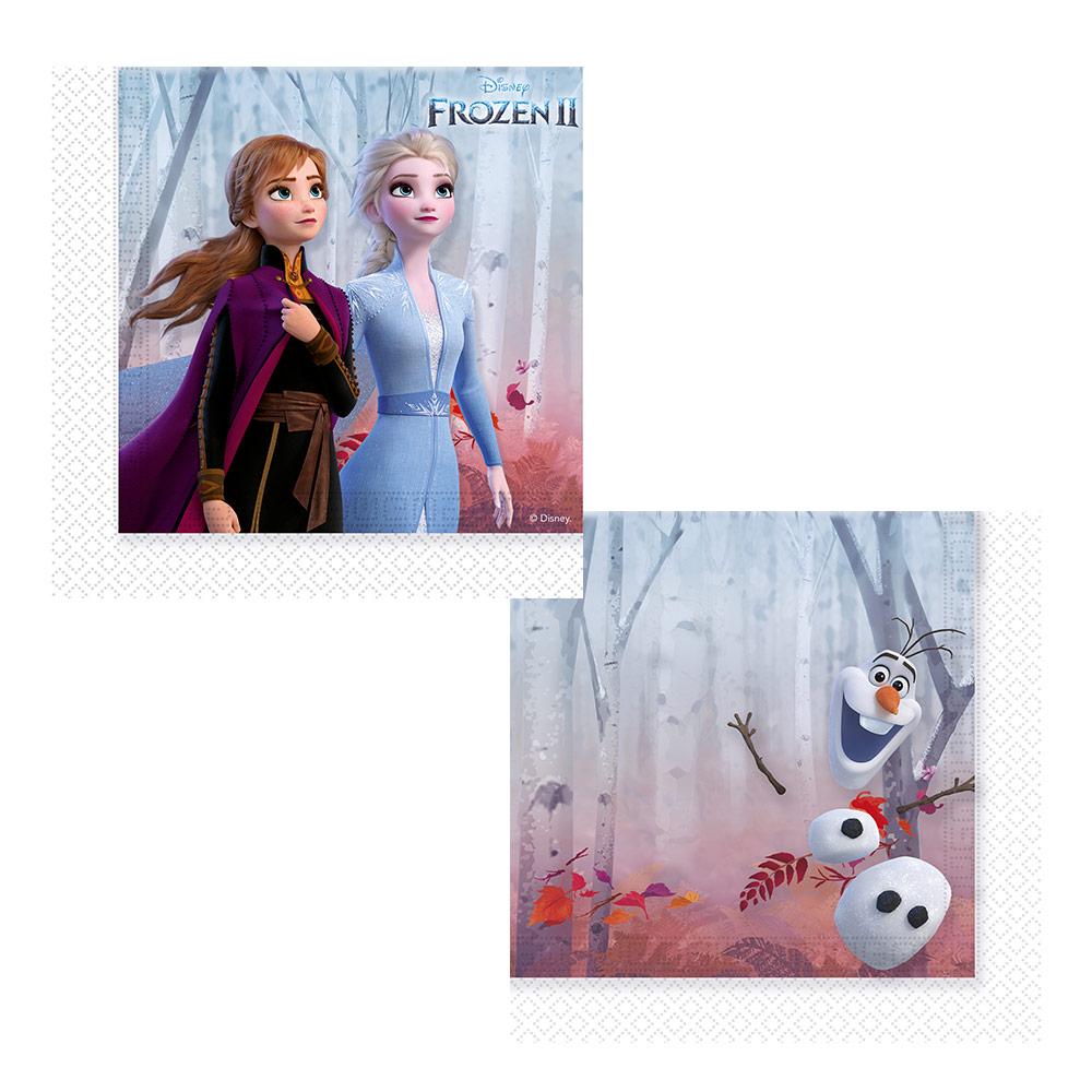 Juego de 16 Servilletas Cóctel Frozen 2