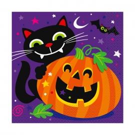 Juego de 16 Servilletas Happy Halloween
