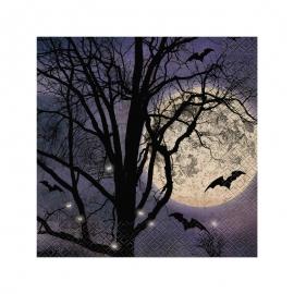 Juego de 16 Servilletas Noche de Halloween