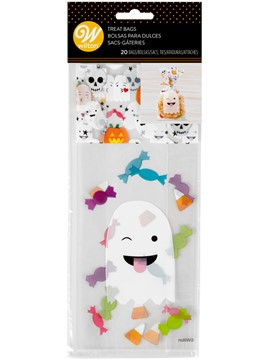 Set de 20 Bolsas para Dulces Fantasma Emoji