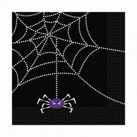 Juego de 16 servilletas Tela de araña