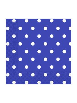Juego de 20 Servilletas Blue Royal Dots