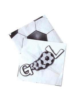 Juego de 20 Servilletas de Fútbol Gol