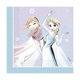 Juego de 20 Servilletas Frozen Sparkle