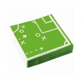Juego de 20 Servilletas Fútbol Kicker