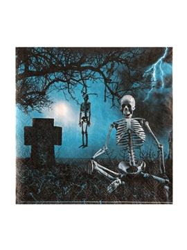 Juego de 20 Servilletas Haunted Halloween