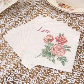 Juego de 20 servilletas pequeñas With love