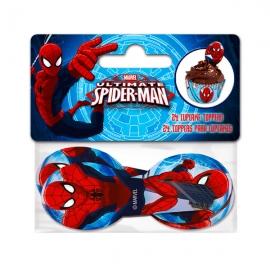 Juego de 24 Toppers Spiderman