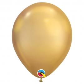 Juego de 25 Globos Chrome Dorado