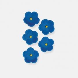 Juego de 30 flores azules de azúcar PME
