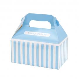 Juego de 4 cajas para dulces azul y blanco