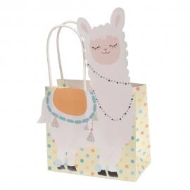 Juego de 5 bolsas para regalo de la colección Llama Love