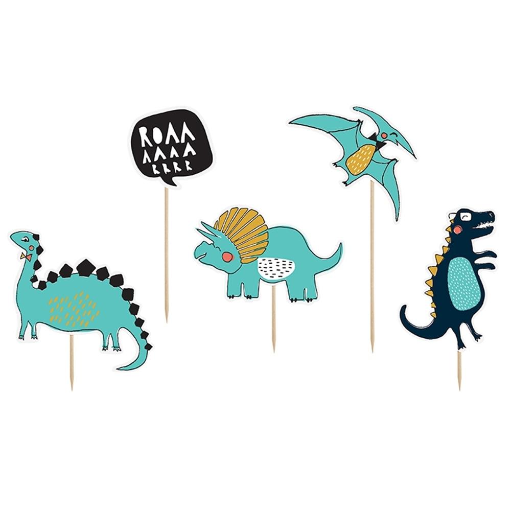 Juego de 5 Toppers Dinosaurio Modelo A