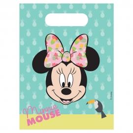 Juego de 6 Bolsas para Chuches de Minnie Mouse Tropical