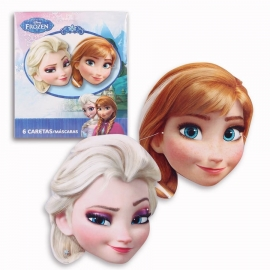 Juego de 6 caretas Frozen