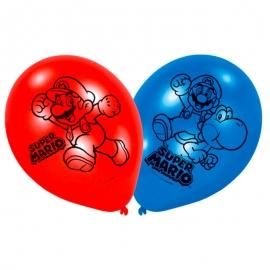 Juego de 6 Globos Super Mario 4 Caras