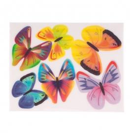 Juego de 6 Obleas Mariposas Modelo A - Miles de Fiestas