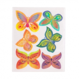 Juego de 6 Obleas Mariposas Modelo B - Miles de Fiestas