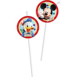 Juego de 6 pajitas de Mickey Mouse