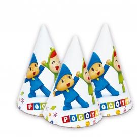 Juego de 6 Sombreros Pocoyó y Nina