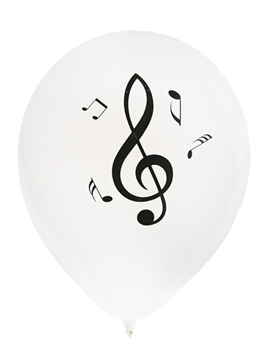 Set de Globos Notas Musicales 23 cm
