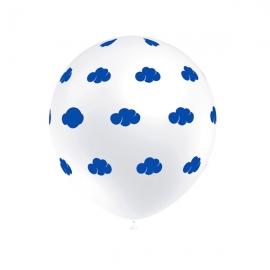 Juego de 8 Globos Nubes Azules