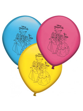 Set de 8 Globos Princesas Disney 30 cm