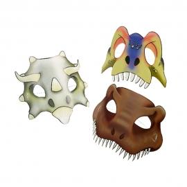 Juego de 8 Máscaras Dinosaurios Attack