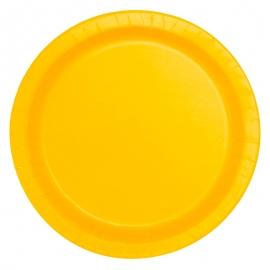 Juego de 8 Platos Amarillos 22 cm