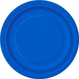 Juego de 8 Platos Azul Intenso 17 cm