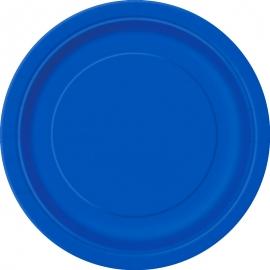 Juego de 8 Platos Azul Intenso 22 cm