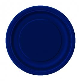 Juego de 8 Platos Azul Marino 17 cm