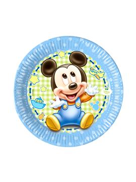 Juego de 8 Platos Mickey Bebé 19 cm