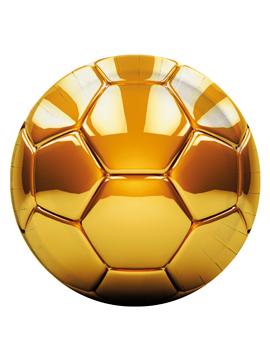 Juego de 8 Platos de cartón Balón de Oro