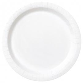 Juego de 8 Platos Blancos 22 cm