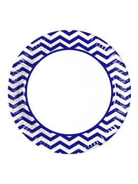 Juego de 8 Platos Blue Chevron 22 cm
