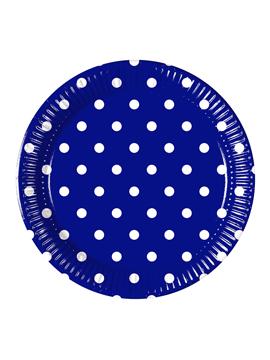 Juego de 8 Platos Blue Royal Dots 22 cm