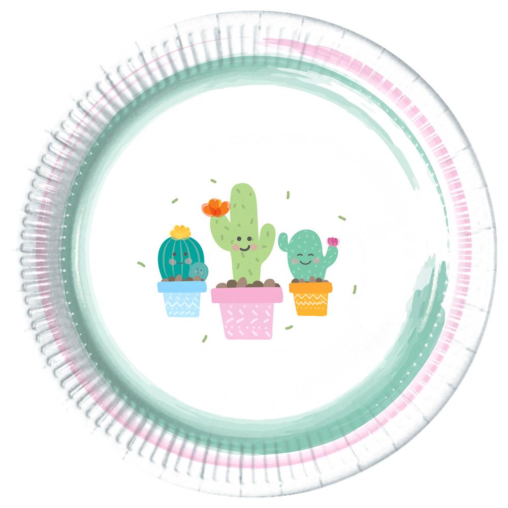 Juego de 8 Platos Cactus 22 cm - Comprar Online  Miles de Fiestas  9afdcba8984
