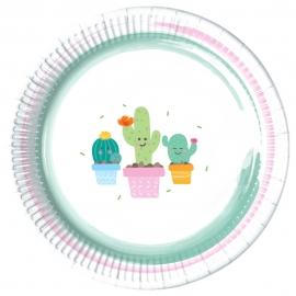 Juego de 8 Platos Cactus 22 cm