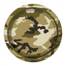 Juego de 8 Platos Camuflaje Militar 17cm