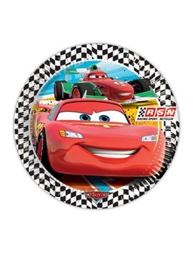 Juego de 8 platos Cars