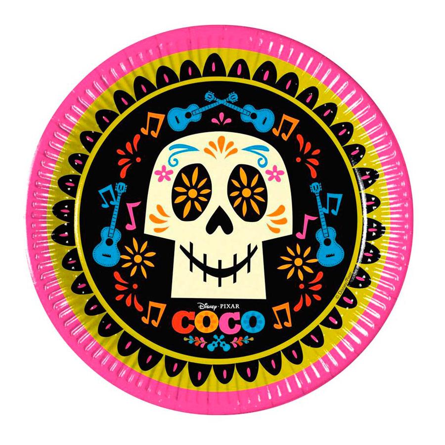 Juego de 8 Platos Coco 22 cm - Comprar Online  Miles de Fiestas  0e4382fe9fc