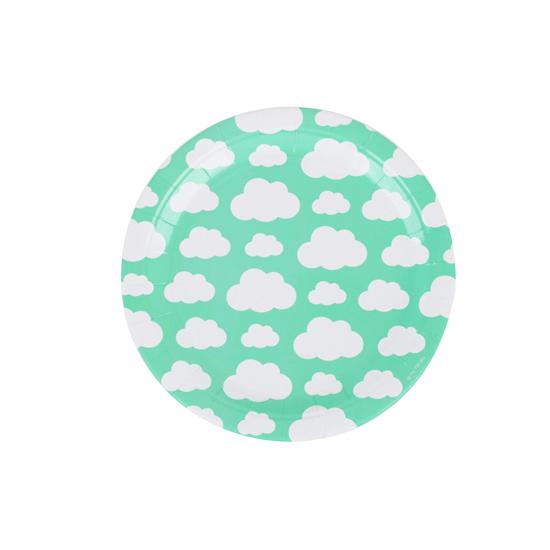 Juego de 8 Platos Nubes 23 cm