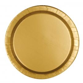 Juego de 8 Platos Dorados 22 cm