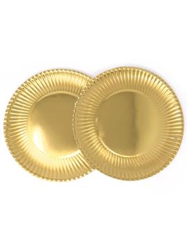 Juego de 8 Platos Dorados 29 cm