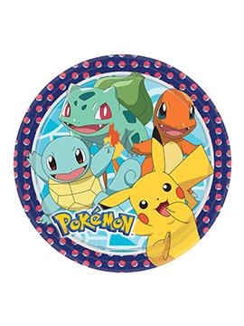 Juego de 8 Platos Pokémon 23 cm