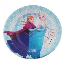 Juego de 8 platos Frozen Elsa, Anna y Olaf - Miles de Fiestas
