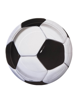 Set de 8 Platos Fútbol 3D 22 cm