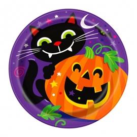 Juego de 8 Platos Happy Halloween 22cm