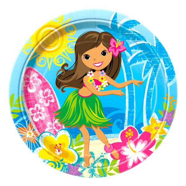 Juego de 8 Platos Hawai 22 cm
